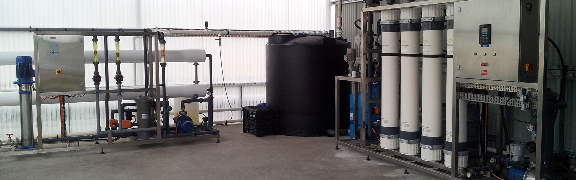 Water treatment reverse osmosis and ultrafiltration
